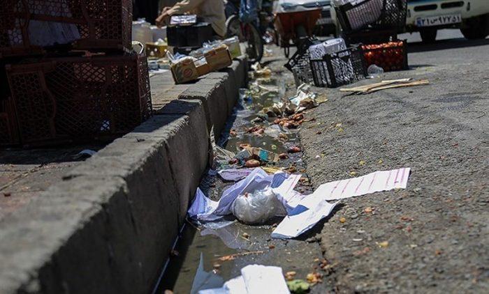 نابسامانی های زباله در سطح معابر