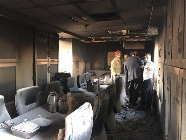 آتش سوزی در بخش اداری بیمارستان بقیه الله رخ داد/ حادثه مصدومی نداشت