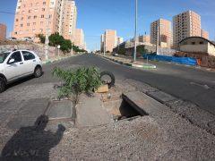 چاله های خطرناک خیابان های شهر پرند