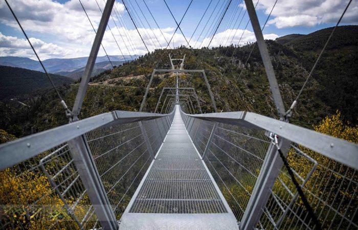 طولانی ترین پل معلق پیاده جهان در پرتغال ساخته شد